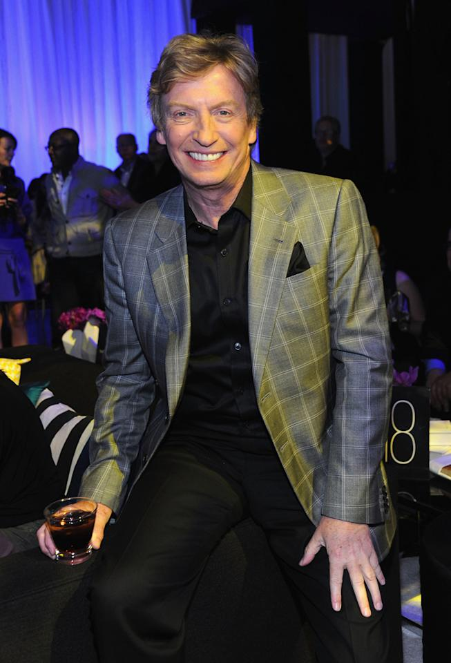"Nigel Lythgoe (""Opening Act"") attends E!'s 2012 Upfront event at Gotham Hall on April 30, 2012 in New York City."