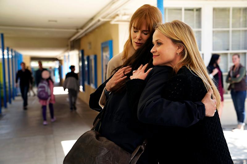 Nicole Kidman and Reese Witherspoon in a scene in 'Big Little Lies'. (PHOTO: Jennifer Clase/HBO)