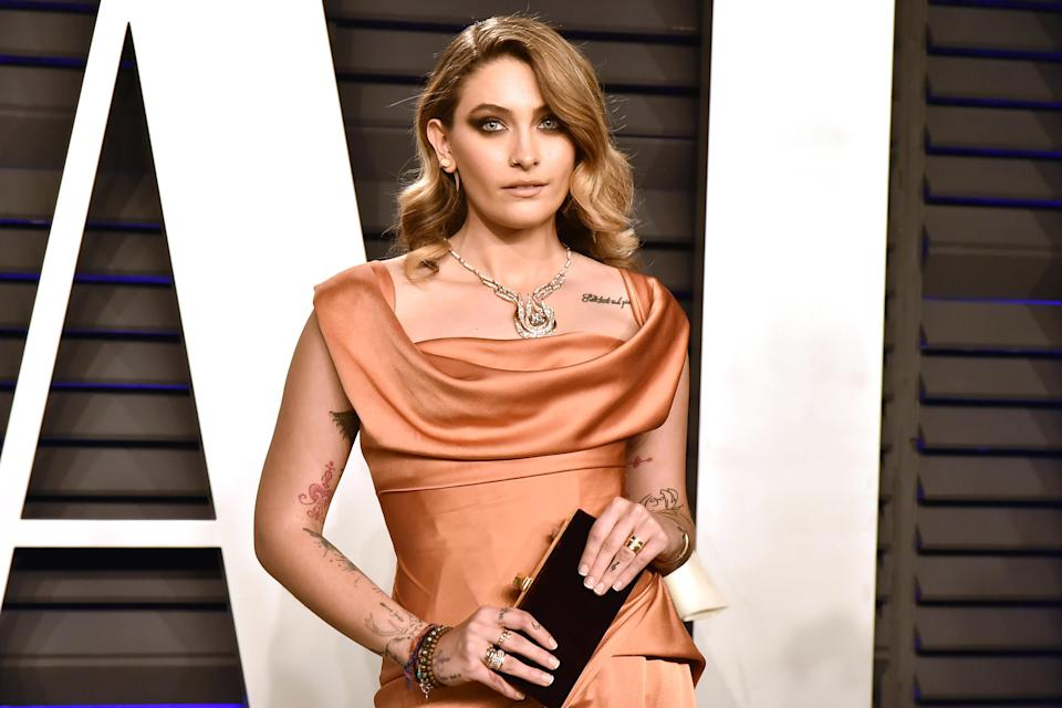 Paris Jackson attends the 2019 Vanity Fair Oscar Party at Wallis Annenberg Center for the Performing Arts on February 24, 2019 in Beverly Hills, Calif. (Photo by David Crotty/Patrick McMullan via Getty Images)