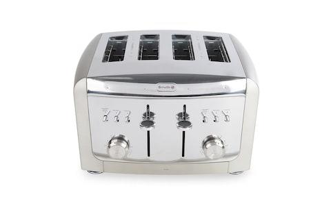 Stainless steel four-slice Breville toaster