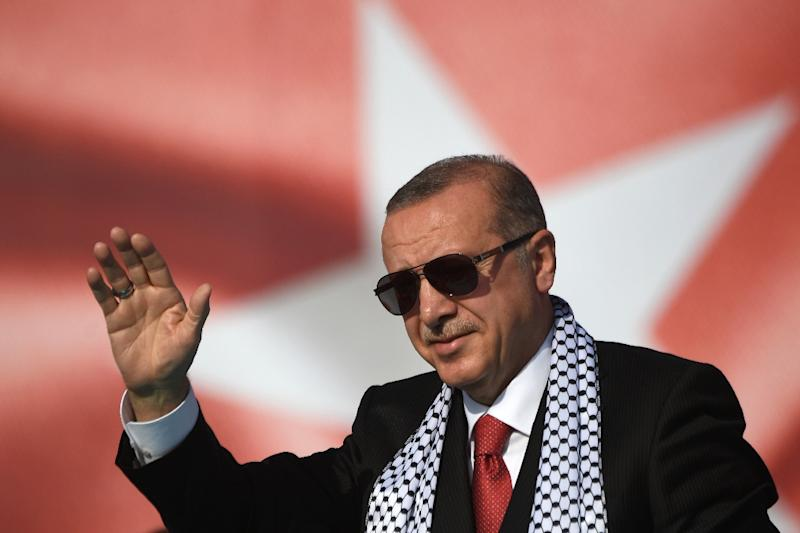 """Erdogan claimed there was """"no difference between Hitler's obsession with the Aryan race and Israel's understanding that these ancient lands are meant only for Jews"""""""