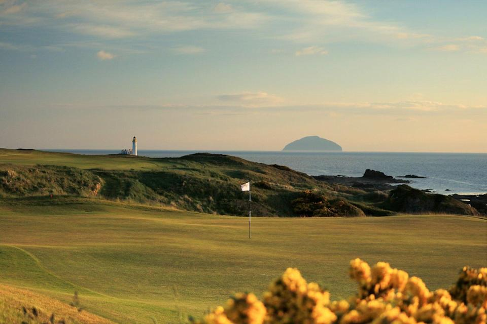 General views of the King Robert the Bruce course at Trump Turnberry