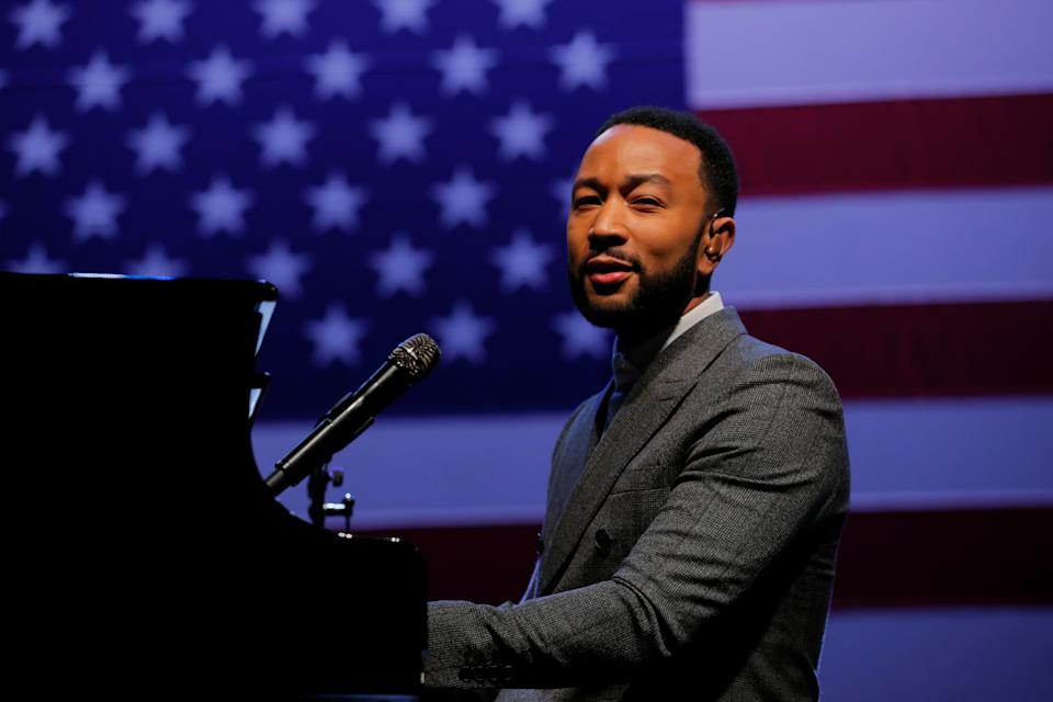 John Legend performing at a pre-pandemic Get Out the Vote event in February 2020. (Photo: Reuters/Brian Snyder