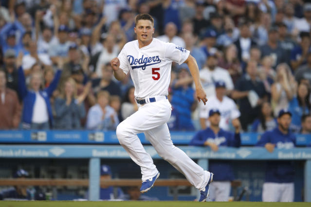 Los Angeles Dodgers shortstop Corey Seager will miss the rest of the 2018 season due to Tommy John surgery. (AP)
