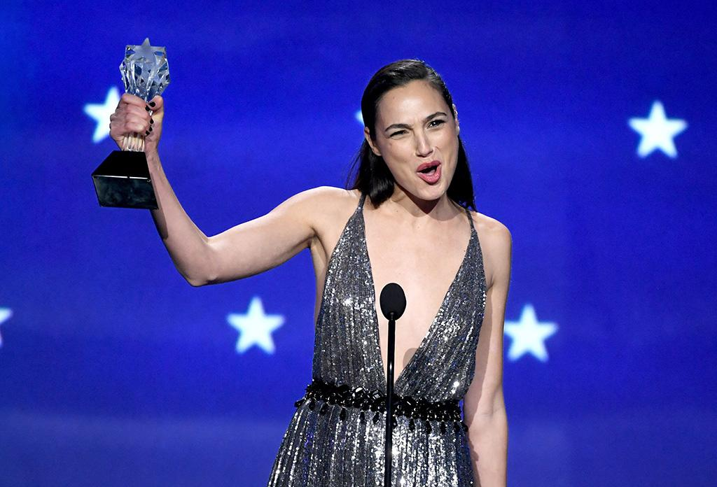 "<p>We've said it before, and we'll say it again — because we kind of can't help it — you go, Gal! The <em>Wonder Woman</em> star accepted the #SeeHer award, an honor given to those who ""push boundaries and recognize the importance of accurately portraying women across the entertainment landscape,"" at the Critics' Choice Awards. ""I want to share this award with all the women and men who stand for what's right, standing for those who can't stand or speak for themselves,"" Gadot said in her acceptance speech. ""My promise and my commitment to all of you is that I will never be silenced. And we will continue to band together to make strides uniting for equality."" (Photo: Kevin Winter/Getty Images) </p>"