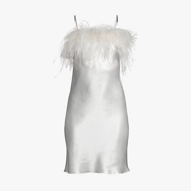 "$500, SAKS FIFTH AVENUE. <a href=""https://www.saksfifthavenue.com/product/gilda-and-pearl-camille-feather-trim-short-slip-0400013130106.html"" rel=""nofollow noopener"" target=""_blank"" data-ylk=""slk:Get it now!"" class=""link rapid-noclick-resp"">Get it now!</a>"