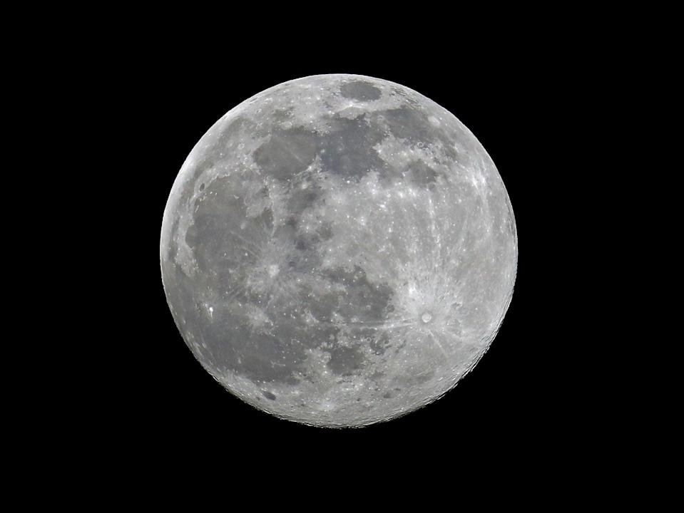 The full moon in the night sky over London on 26 FebruaryGetty Images