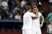 <p>Harry Kane and an injured Kieran Trippier relfect on a heartbreaking loss </p>