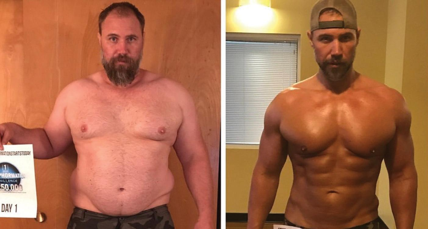 Jeremiah before and after losing weight. Photo: Jeremiah Peterson