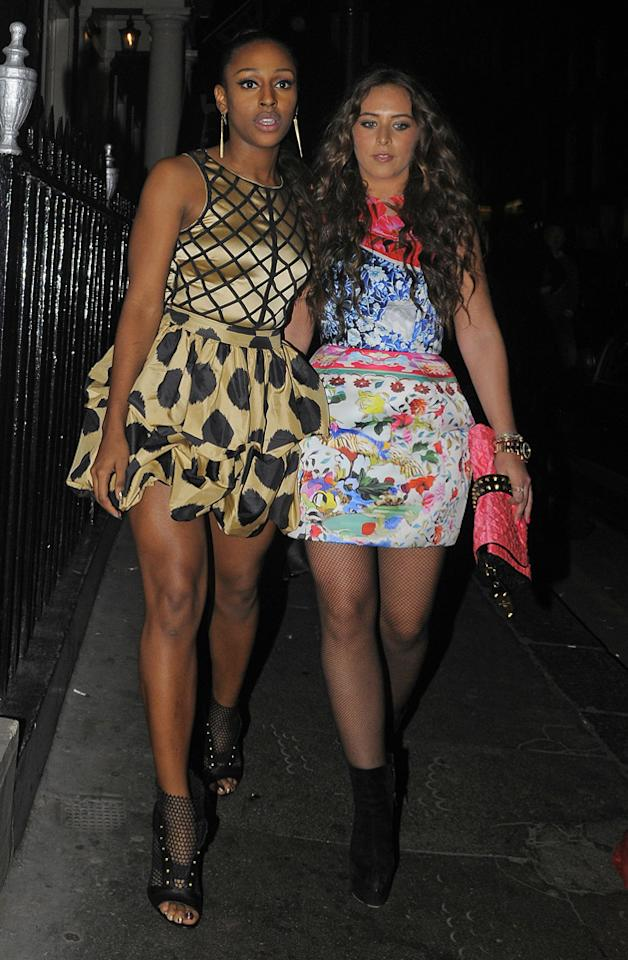 Alexandra Burke and Chloe Green partied together.