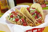 """<p>Although <a href=""""https://www.fuzzystacoshop.com/"""" rel=""""nofollow noopener"""" target=""""_blank"""" data-ylk=""""slk:Fuzzy's"""" class=""""link rapid-noclick-resp"""">Fuzzy's</a> is yet another taco franchise, there's no denying that their tacos are absolutely delicious. It even celebrates National Taco Day with $1 tacos!</p><p><em>Check out <a href=""""https://www.facebook.com/fuzzystopeka/"""" rel=""""nofollow noopener"""" target=""""_blank"""" data-ylk=""""slk:Fuzzy's Taco Shop on Facebook"""" class=""""link rapid-noclick-resp"""">Fuzzy's Taco Shop on Facebook</a>.</em></p>"""