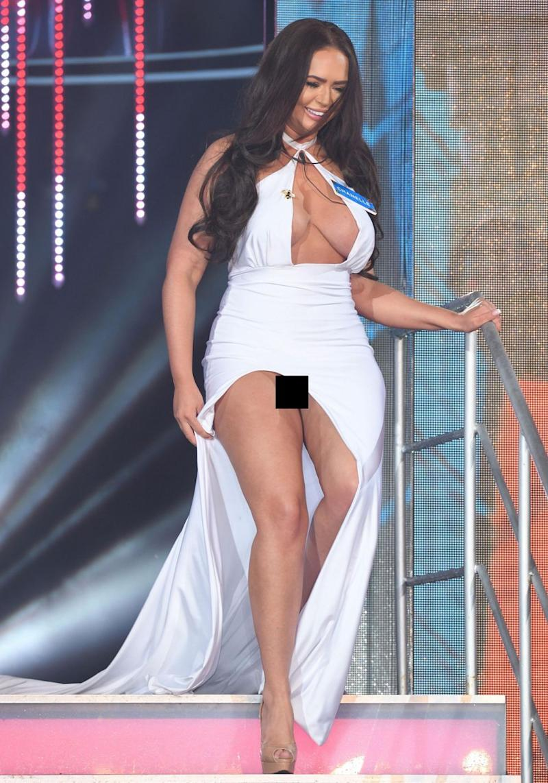 Big Brother is always watching, and there was no missing Chanelle McCleary's double wardrobe malfunction during the show's UK opening night episode this week. Source: Getty
