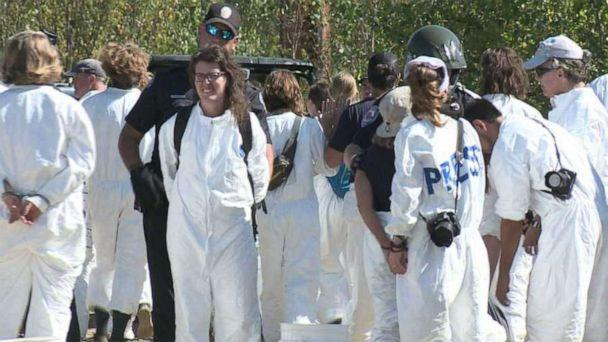PHOTO: Sixty-seven protesters were arrested outside a coal power plant in Bow, N.H., on Saturday, Sept. 28, 2019. (WMUR)