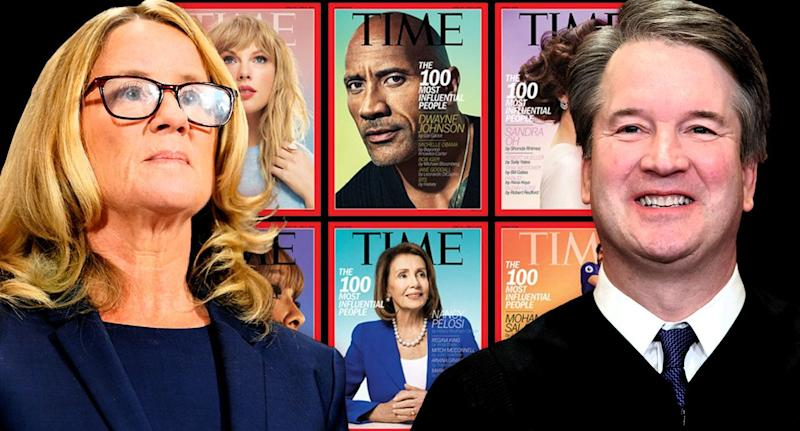 Dr. Christine Blasey Ford and Brett Kavanaugh. (Photo illustration: Yahoo News; photos: AP, TIME, AP)