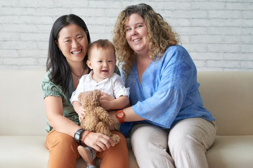 lesbian couple with baby son, things you shouldn't say about someone's body