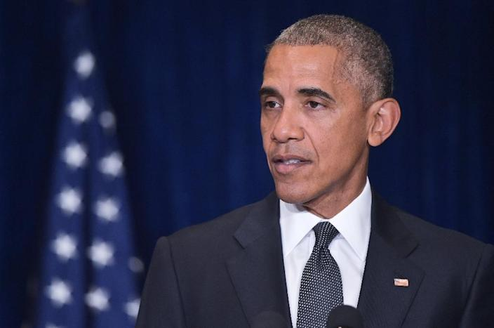 """President Barack Obama called the Dallas sniper-style ambush a """"vicious, calculated and despicable attack on law enforcement,"""" pledged that those responsible would be held accountable and urged national unity (AFP Photo/Mandel Ngan)"""