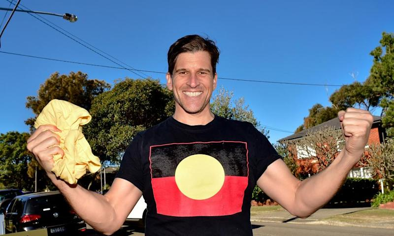 Osher Günsberg on his way to vote in last year's federal election. The Australian Press Council found in the TV presenter's favour on some counts in a complaint against Daily Mail Australia.