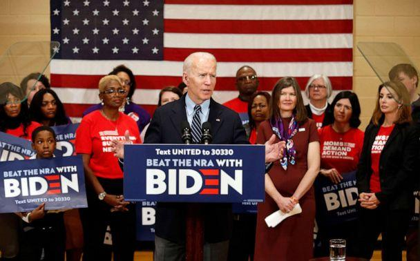 PHOTO: Democratic presidential candidate former Vice President Joe Biden speaks at a campaign event in Columbus, Ohio, March 10, 2020. (Paul Vernon/AP, FILE)