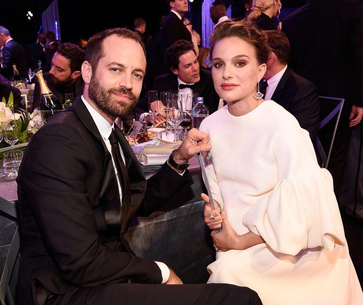Benjamin Millepied (L) and actor Natalie Portman in the audience during The 23rd Annual Screen Actors Guild Awards at The Shrine Auditorium