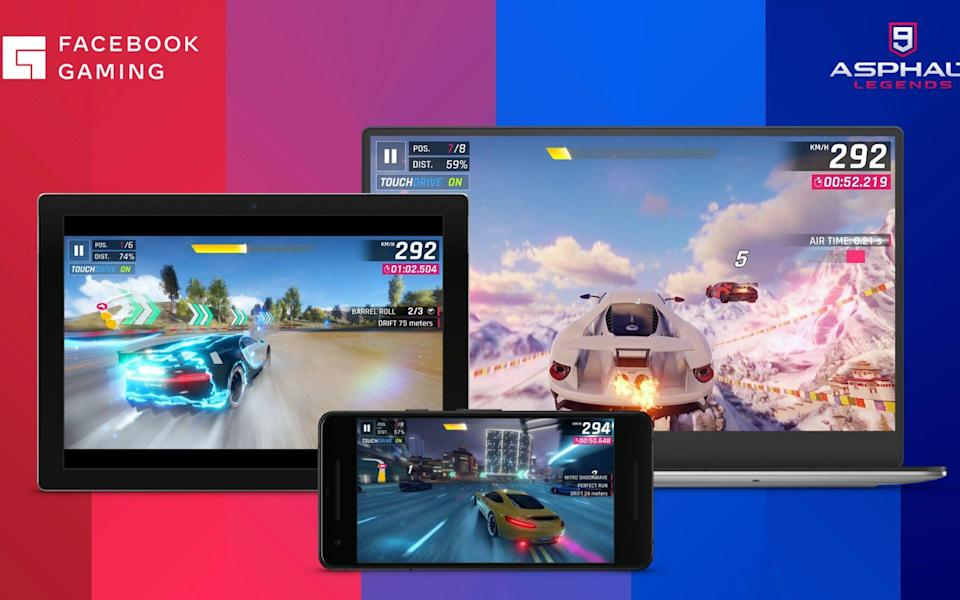 A look at the racing game Asphalt that will launch on Facebook's cloud service - Facebook/Facebook