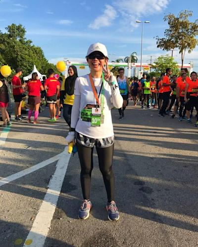 Ultra runner Evelyn Ang is seen here at the Twincity Marathon 2017 that was held on January 15, 2017, where she came in 10th in the Women's Veteran category. ― Picture courtesy of Ana Fauzi