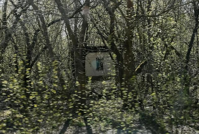 <p>A house is seen in the abandoned village of Zalesye near the Chernobyl nuclear power plant in Ukraine, April 20, 2018. (Photo: Gleb Garanich/Reuters) </p>