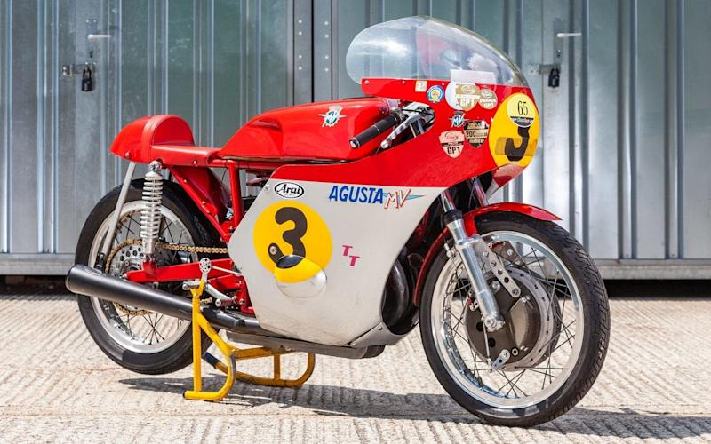 This lovely three-cylinder, 500cc MV Agusta is expected to fetch up to £350,000 at auction during the show