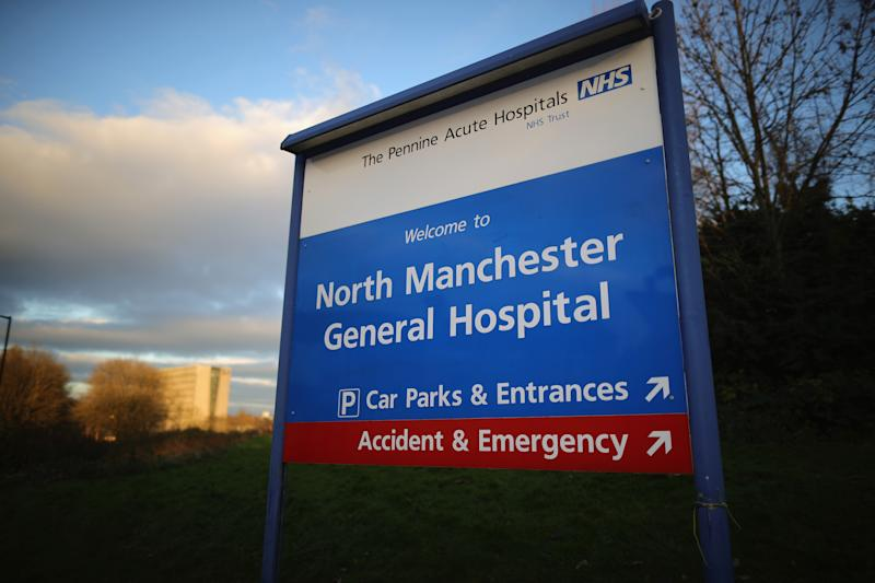 MANCHESTER, ENGLAND - NOVEMBER 24: A general view of signage and buildings at The North Manchester General Hospital on November 24, 2016 in Manchester, England. A secret report by Pennine Acute Hospitals NHS Trust's review of its Royal Oldham and North Manchester General hospitals has been revealed by the Manchester Evening News and lists cases of neglect. The review was carried out after critical reports by the Care Quality Commission and reported North Manchester General Hospital and Royal Oldham Hospital as inadequate. (Photo by Christopher Furlong/Getty Images)