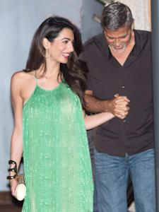 Amal (left) and George Clooney