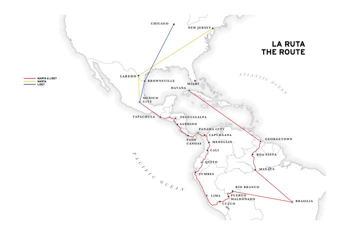 The map of their journey.