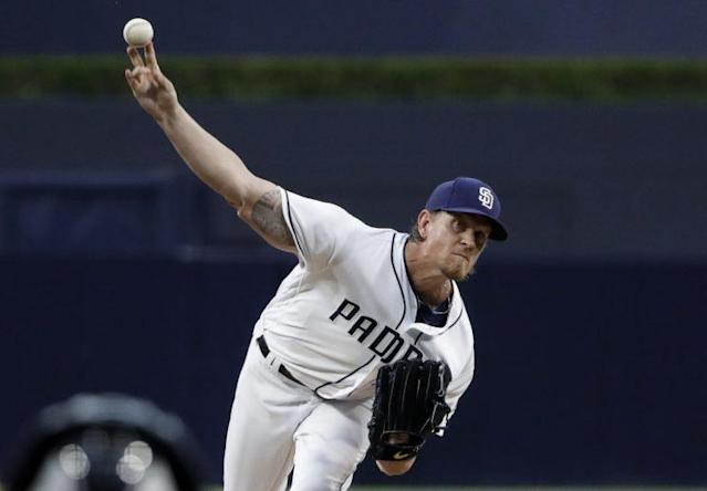 """<a class=""""link rapid-noclick-resp"""" href=""""/mlb/players/7708/"""" data-ylk=""""slk:Jered Weaver"""">Jered Weaver</a> is stepping away from baseball. (AP Photo)"""