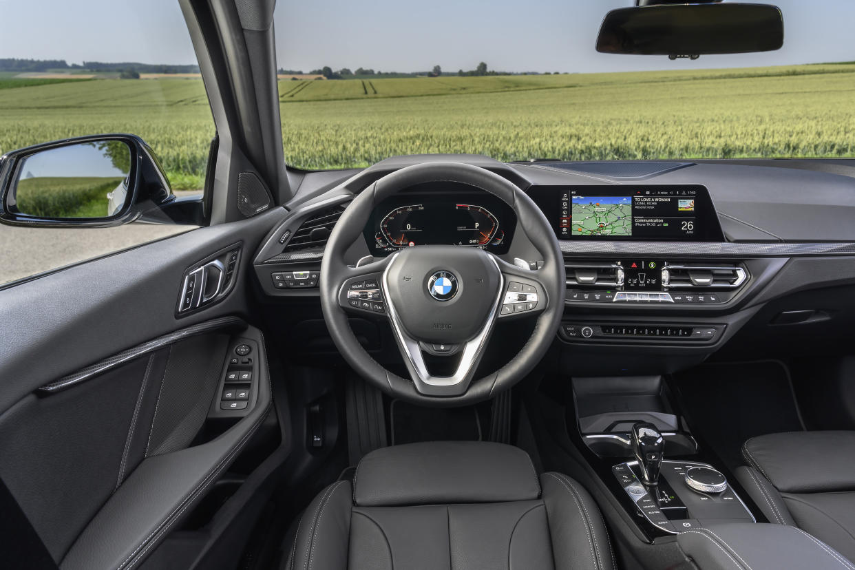 The interior is clear and spacious