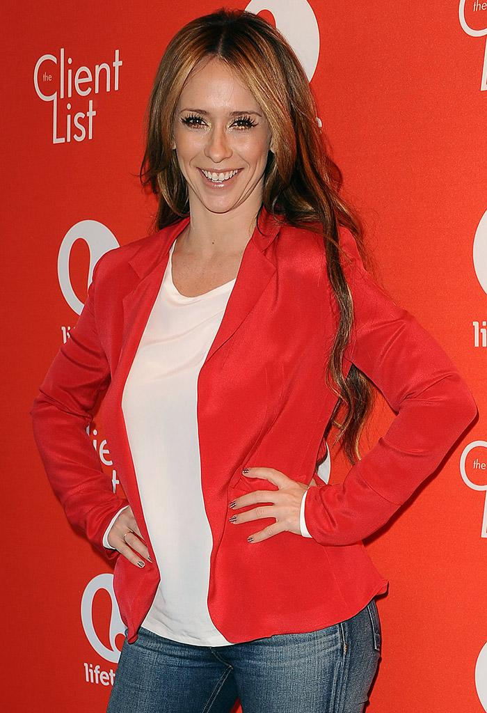 """WEST HOLLYWOOD, CA - FEBRUARY 14:  Actress Jennifer Love Hewitt attends the Valentine's Day event for the upcoming season of """"The Client List"""" at Mel's Diner on February 14, 2013 in West Hollywood, California.  (Photo by Jason LaVeris/FilmMagic)"""