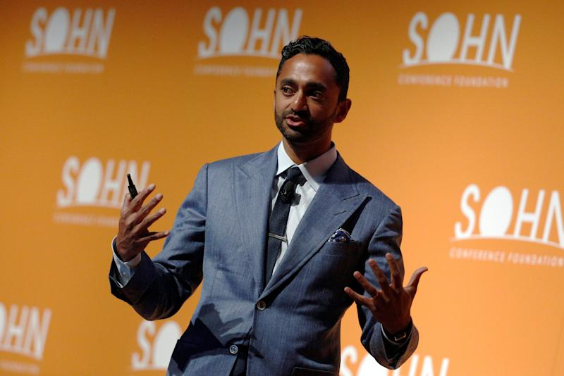 Chamath Palihapitiya, Founder and CEO of Social Capital LP, speaks at the Sohn Investment Conference in New York City