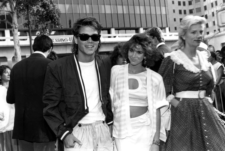 Actor Rob Lowe and actress Melissa Gilbert are shown together in Los Angeles, Ca. on July 8, 1985. (AP Photo/Nick Ut)