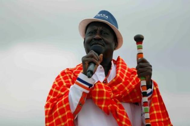 Kenya opposition leader says ruling party can win only by rigging vote