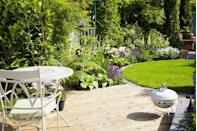 """<p>One of the easiest and cheapest ways to transform your garden is to <a href=""""http://www.housebeautiful.co.uk/garden/plants/how-to/a487/how-to-make-your-lawn-look-fabulous/"""" rel=""""nofollow noopener"""" target=""""_blank"""" data-ylk=""""slk:cut the lawn"""" class=""""link rapid-noclick-resp"""">cut the lawn</a> into a clearly defined shape – something like a circle, a square or an oblong. Mark it out with string and use a spade (try this <a href=""""https://www.amazon.co.uk/d/1b3/Neill-Tools-Spear-Jackson-1190EL-Stainless-Digging/B0006UF67G/ref=sr_1_1?ie=UTF8&qid=1500582637&sr=8-1&keywords=spade"""" rel=""""nofollow noopener"""" target=""""_blank"""" data-ylk=""""slk:Stainless Digging Spade by Spear & Jackson"""" class=""""link rapid-noclick-resp"""">Stainless Digging Spade by Spear & Jackson</a>) to cut away the excess grass. It's not a difficult job and should only take an afternoon.</p><p><strong>READ MORE: </strong><strong><a href=""""http://www.housebeautiful.co.uk/garden/a585/top-tips-garden-maintenance/"""" rel=""""nofollow noopener"""" target=""""_blank"""" data-ylk=""""slk:10 simple tips to maintain your beautiful garden"""" class=""""link rapid-noclick-resp"""">10 simple tips to maintain your beautiful garden</a></strong> </p>"""