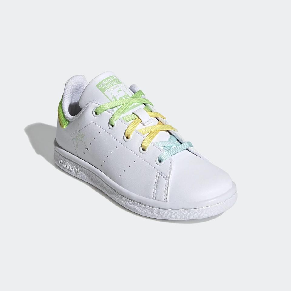 <p><span>Adidas Stan Smith Tinkerbell Shoes For Little Kids</span> ($60)</p>