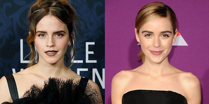 <p>Not only did Emma Watson and Kiernan Shipka both build successful acting careers as children, but they both have deep set eyes and heart-shaped faces too.</p>