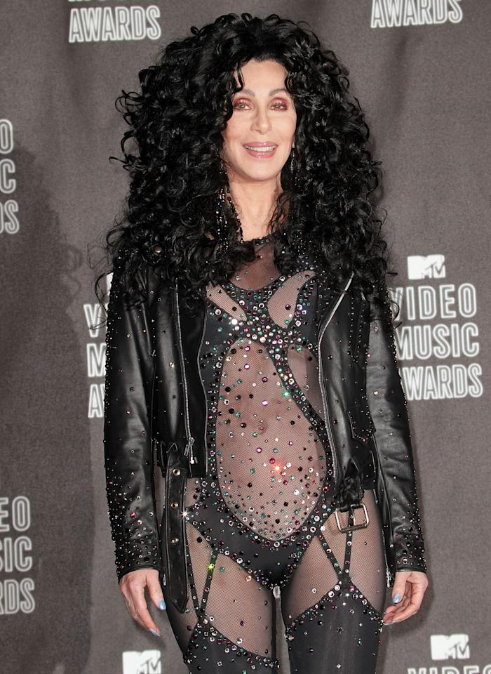 LOS ANGELES, CA - SEPTEMBER 12:  Cher poses in the press room during the MTV Video Music Awards at NOKIA Theatre L.A. LIVE on September 12, 2010 in Los Angeles, California.  (Photo by Frederick M. Brown/Getty Images)