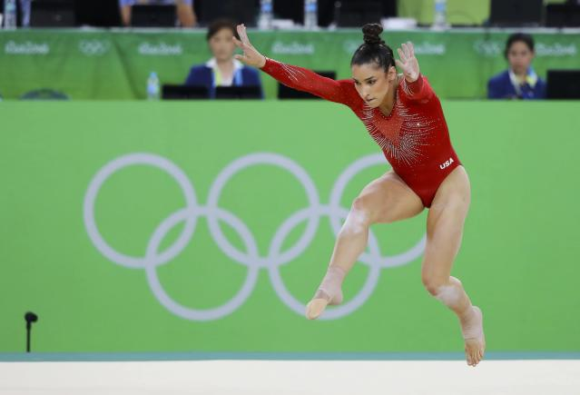 2016 Rio Olympics - Artistic Gymnastics - Final - Women's Individual All-Around Final - Rio Olympic Arena - Rio de Janeiro, Brazil - 11/08/2016. Alexandra Raisman (USA) of USA (Aly Raisman) competes on the floor during the women's individual all-around final. REUTERS/Mike Blake FOR EDITORIAL USE ONLY. NOT FOR SALE FOR MARKETING OR ADVERTISING CAMPAIGNS.