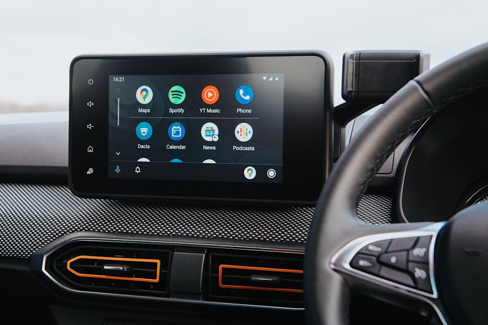 The Stepway has a built-in six-speaker sound system and sat navDacia