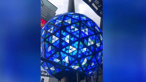 PHOTO: The Waterford Ball is illuminated with 32,265 LEDs and is capable of displaying billions of patterns. (Morgan Korn/ABC News)