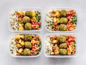 """<p>Laureen advises that investing in a <a href=""""https://www.popsugar.com/fitness/Best-Meal-Prep-Containers-46165515"""" class=""""link rapid-noclick-resp"""" rel=""""nofollow noopener"""" target=""""_blank"""" data-ylk=""""slk:high-quality container"""">high-quality container</a> assists in the """"longevity of food"""" and allows you to """"minimize waste."""" It's an essential that can be used for dining-hall leftovers as well as meal prepping.</p>"""