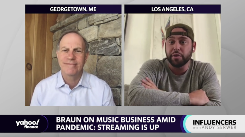 """Scooter Braun, chairman of entertainment holding company Ithaca Holdings, appears on """"Influencers with Andy Serwer."""""""