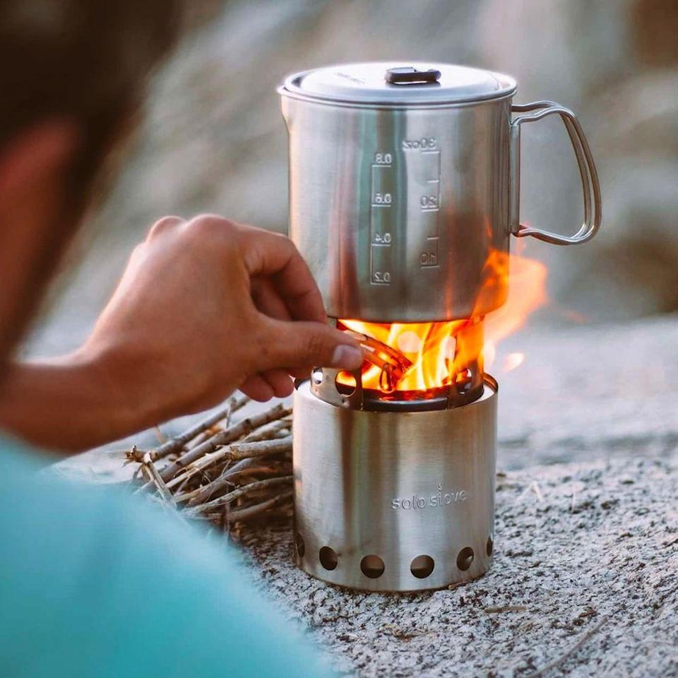 """<p><strong>Solo Stove</strong></p><p>solostove.com</p><p><strong>$69.99</strong></p><p><a href=""""https://go.redirectingat.com?id=74968X1596630&url=https%3A%2F%2Fwww.solostove.com%2Fsolo-stove-lite%3Favad%3D237341_a158f91cd&sref=https%3A%2F%2Fwww.redbookmag.com%2Flife%2Fg36197559%2Fgifts-for-dad-who-has-everything%2F"""" rel=""""nofollow noopener"""" target=""""_blank"""" data-ylk=""""slk:Shop Now"""" class=""""link rapid-noclick-resp"""">Shop Now</a></p><p>Whether he camps regularly or likes to turn the backyard into an adventure zone, this top-rated stove is perfect for s'mores, hot dogs or well, warmth. An added bonus: It's extremely lightweight and compact, making it a must-have for backpacking trips. </p>"""