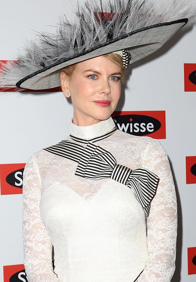 Nicole Kidman attends the Swisse marquee on Derby Day at Flemington Racecourse on November 3, 2012 in Melbourne, Australia.  (Photo by Don Arnold/WireImage)