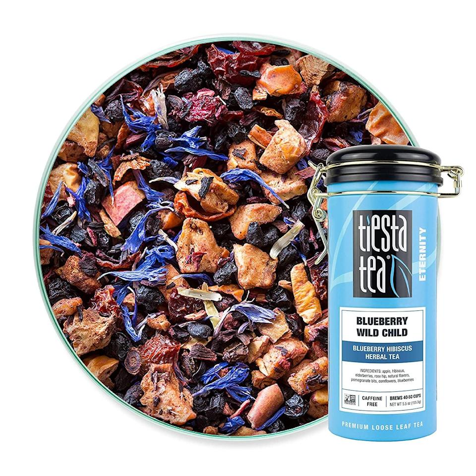 <p>The <span>Tiesta Tea - Blueberry Wild Child, Loose Leaf Blueberry Hibiscus Herbal Tea</span> ($10) will taste refreshing in the spring and summertime.</p>