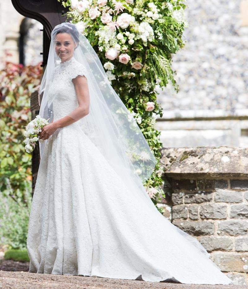 Pippa Middleton married James Matthew in May in a Giles Deacon gown. Photo: Getty Images
