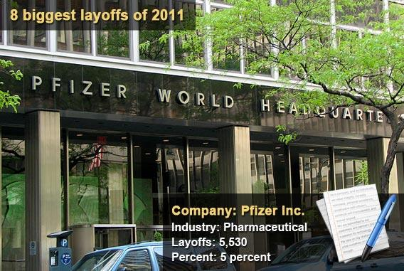 8 biggest layoffs of 2011 - Pfizer